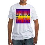 108b. grampa to be [rainbow] Fitted T-Shirt