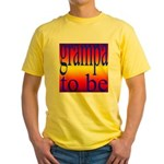 108b. grampa to be [rainbow] Yellow T-Shirt