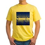 108b.grampa to be [blue on bl Yellow T-Shirt