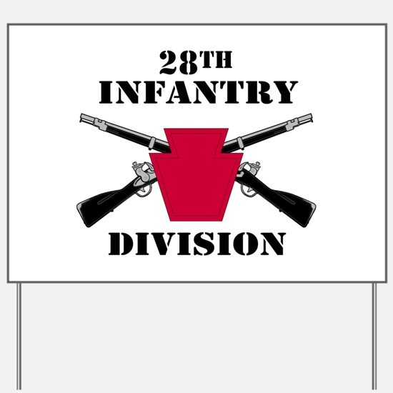 28th Infantry Division (1) Yard Sign