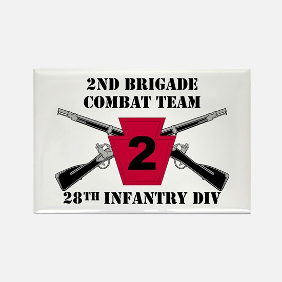 2nd BCT 28th Inf (1) Rectangle Magnet