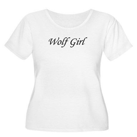 Wolf Girl Women's Plus Size Scoop Neck T-Shirt