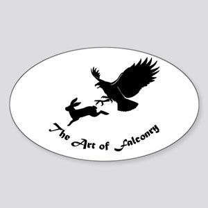 Art of Falconry - Redtail hawk Oval Sticker