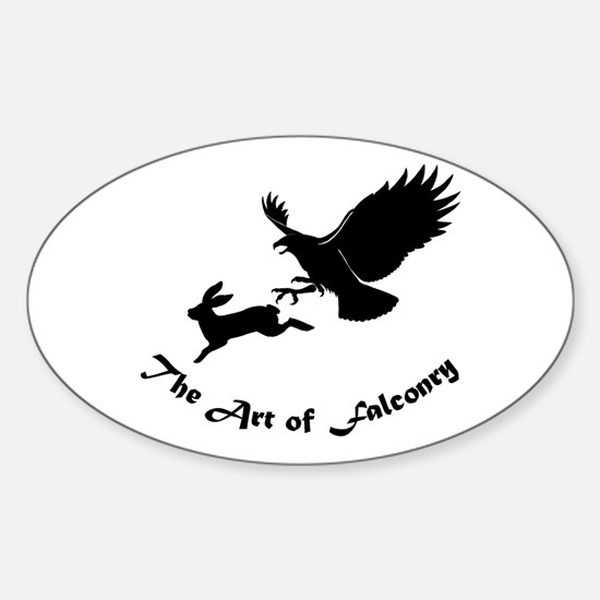 Art of Falconry - Redtail hawk Oval Decal
