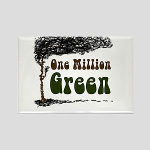 One Million Green Rectangle Magnet