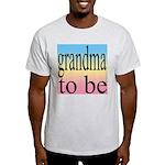 109b. grandma to be [black on Ash Grey T-Shirt