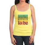 109b. grandma to be [black on Jr. Spaghetti Tank