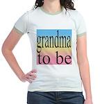 109b. grandma to be [black on Jr. Ringer T-Shirt