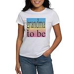 109b. grandma to be [black on Women's T-Shirt