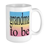 109b. grandma to be [black on Large Mug