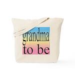 109b. grandma to be [black on Tote Bag
