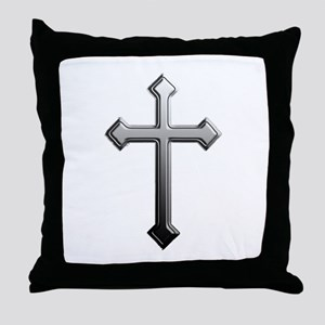Chrome Cross - Throw Pillow