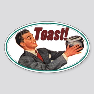 Toast! Oval Sticker