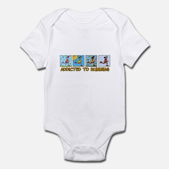 Addicted to running (woman) Infant Bodysuit