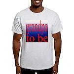108b. grandpa to be [red on b Ash Grey T-Shirt