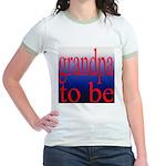 108b. grandpa to be [red on b Jr. Ringer T-Shirt