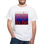 108b. grandpa to be [red on b White T-Shirt