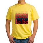 108b. grandpa to be [red on b Yellow T-Shirt