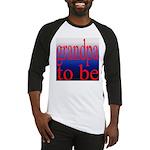 108b. grandpa to be [red on b Baseball Jersey