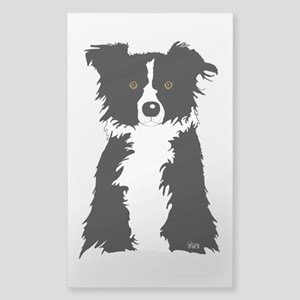 Border Collie Rectangle Sticker