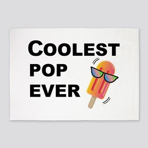 Coolest Pop Ever Funny Father's Day 5'x7'Area Rug