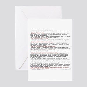 Hacker's Manifesto Greeting Cards (Pk of 10)