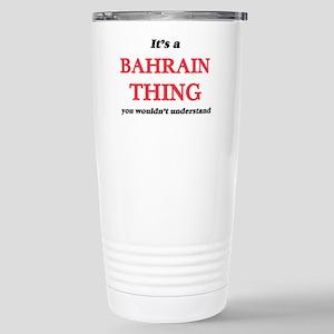 It's a Bahrain thin Stainless Steel Travel Mug