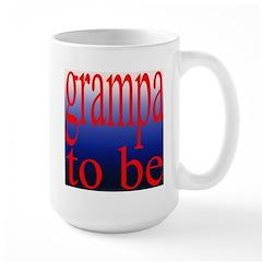 108b. grampa to be [ red on b Large Mug