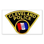 Cleveland Police Rectangle Sticker