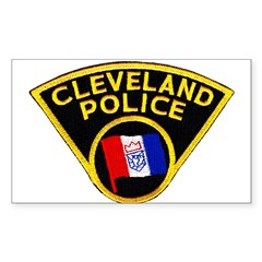 Cleveland Police Rectangle Sticker 10 pk)