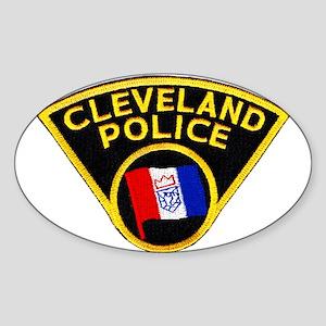 Cleveland Police Oval Sticker