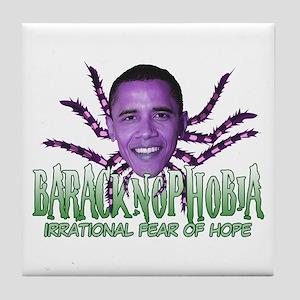 Baracknophobia Tile Coaster