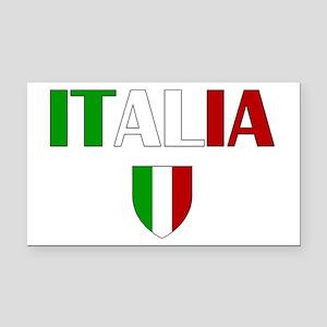 Italia Logo Rectangle Car Magnet