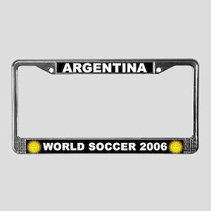 Argentina World Cup Soccer License Plate Frame