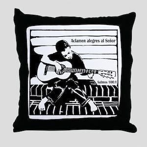 Salmos 100:1 Throw Pillow