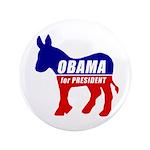 """Obama Democrat Donkey 3.5"""" Button"""