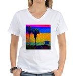 Beach Campground Women's V-Neck T-Shirt