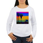 Beach Campground Women's Long Sleeve T-Shirt