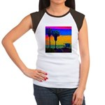 Beach Campground Women's Cap Sleeve T-Shirt