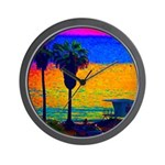 Beach Campground Wall Clock