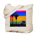 Beach Campground Tote Bag