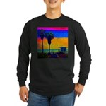 Beach Campground Long Sleeve Dark T-Shirt