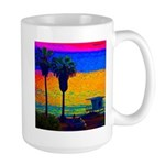 Beach Campground Large Mug