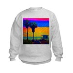 Beach Campground Kids Sweatshirt