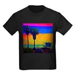 Beach Campground Kids Dark T-Shirt