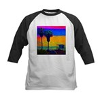 Beach Campground Kids Baseball Jersey