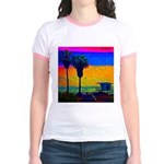 Beach Campground Jr. Ringer T-Shirt