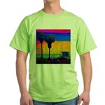 Beach Campground Green T-Shirt