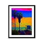 Beach Campground Framed Panel Print