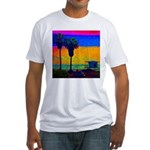 Beach Campground Fitted T-Shirt